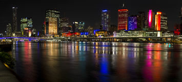 Nightime-Panorama G20 Brisbane 2014 Stockfoto