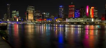 Nightime-Panorama G20 Brisbane 2014 Stockfoto