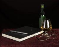 Nightime reading Stock Photo