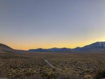Nightime scena przy Panum kraterem zdjęcie royalty free
