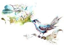 nightingale royalty-vrije illustratie