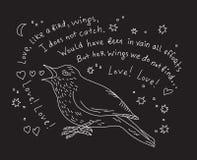 Nightingale sings the aria of Carmen Royalty Free Stock Image