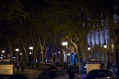 Nightlife. In the streets of Palma in Majorca of spain royalty free stock image