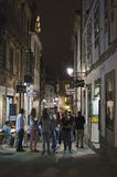 Nightlife. SANTIAGO DE COMPOSTELA, SPAIN – SEPTEMBER 8, 2012: Nightlife in Santiago de Compostela. The town is a commercial and administrative center for the Royalty Free Stock Photo