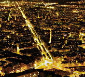 Nightlife. City of Grenoble (france) at night Royalty Free Stock Photography