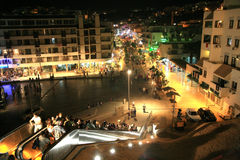Nightlife in Albufeira Portugal Stock Photography