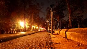 The nightlife bike rider stock images