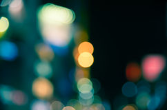 Nightlife bokeh vintage in green tone Royalty Free Stock Photography