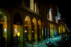 Nightlife in Bologna Stock Photography
