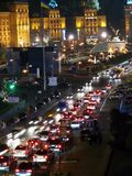 Nightlife city center in Kiev. Nightlife of the city center in Kiev, Ukraine Stock Photo