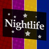 Nightlife Colorful Halftone Background Stock Image