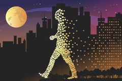 Night life. Nightlife comes to the city. Vector format Royalty Free Stock Photo