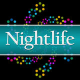 Nightlife Dark Colorful Neon Square Horizontal Stock Images