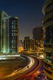 Nightlife in Dubai Marina. UAE. November 12, 2012 Royalty Free Stock Photography