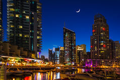 Nightlife in Dubai Marina. UAE. November 16, 2012 Stock Image