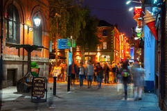 Nightlife in Dublin, Ireland Stock Photography