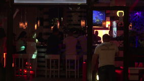 Nightlife in the Golden Sands resort. Varna. Bulgaria. Nightlife in the Golden Sands resort. Varna. Bulgaria stock video footage