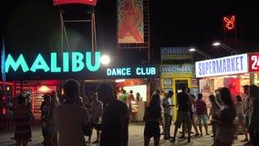 Nightlife in the Golden Sands resort. Varna. Bulgaria. Nightlife in the Golden Sands resort. Varna. Bulgaria stock video