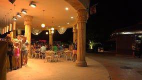 Nightlife in the Golden Sands resort. Varna. Bulgaria. 4K. Nightlife in the Golden Sands resort. Varna. Bulgaria. Shot in 4K (ultra-high definition (UHD)), so stock video