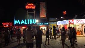 Nightlife in the Golden Sands resort. Varna. Bulgaria. 4K. Nightlife in the Golden Sands resort. Varna. Bulgaria. Shot in 4K (ultra-high definition (UHD)), so stock footage