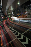 Nightlife in Japan. The bright and glowing nightlife of Japan is seen on the picture. Several highrise buildings and glowing streets are seen on the picture Stock Image