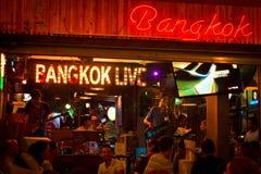 Nightlife on the Koa San road area of Bangkok, Thailand at midni Stock Photography