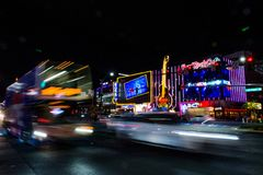 Nightlife in Las Vegas. Main road. stock photography