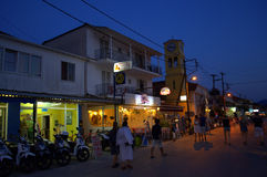 Nightlife,Lefkada,Greece Stock Photo