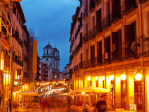 Nightlife in Madrid, Spain. Nightlife in Madrid in Spain stock image