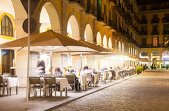 Nightlife in old  european city.  Girona Royalty Free Stock Photo