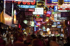 Nightlife in Pattaya, Thailand Royalty Free Stock Images