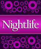 Nightlife Purple Pink Rings Stock Photo