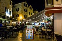 Nightlife resort Vodice, Croatia stock photo