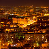 Nightlife Russia, the evening city of Saratov with River Stock Photos