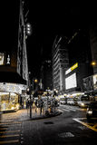 The nightlife on the streets of Hong Kong Stock Photo