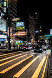 The nightlife on the streets of Hong Kong Royalty Free Stock Photography