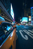 Nightlife on the streets of Manhattan Stock Image