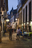 Nightlife on the streets of Santiago royalty free stock photos