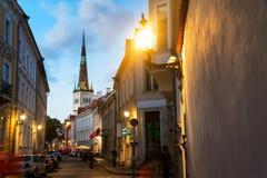 Nightlife in Tallinn, Estonia Royalty Free Stock Photos