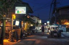 Nightlife in Thailand village Stock Photo