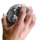 Nightlife in your hand. Small disco ball. Camera: Nikon D200 stock photography