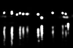 Nightlight. Light's night in a harbour stock photo