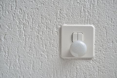 Nightlight and Light Switch on the wall Royalty Free Stock Photo