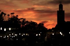 nightlights en el cuadrado Foto de archivo libre de regalías