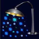 Nightlights lamppol Royaltyfri Illustrationer