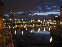 nightlites Stockholm Fotografia Stock
