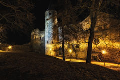 Nightly castle tower Royalty Free Stock Photos