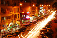 Nightly city. A nightly city Hammamet is in Tunis Stock Photography