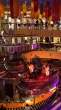 Nightly entertainment on the Carnival Breeze. The Breeze is a Dream-class cruise ship owned by Carnival Cruise which entered service in June 2012 Stock Photos
