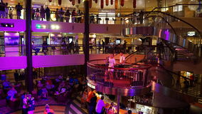 Nightly entertainment on the Carnival Breeze. The Breeze is a Dream-class cruise ship owned by Carnival Cruise which entered service in June 2012 Royalty Free Stock Photos